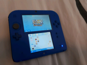 Nintendo 2DS (Blue & Almost New) + Several Great Games!