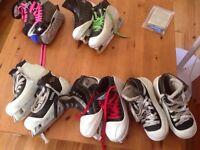 Assorted size kids goalie skates