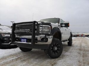 "2015 Ford Super Duty F-350 SRW LARIAT 6.7L V8 DIESEL LIFTED ""AS"