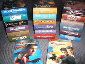 Collection de films de JAMES BOND sur VHS - en français