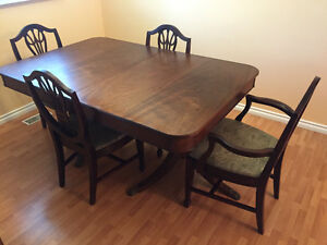 Antique Dinning Table &Chairs