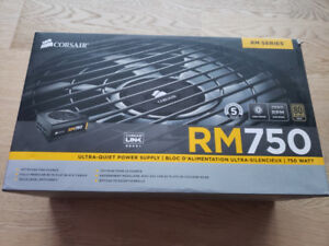 Corsair RM750 Power Supply w/ Original Packaging & Accessories