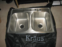 Top mount 18/10 stainless steel sink
