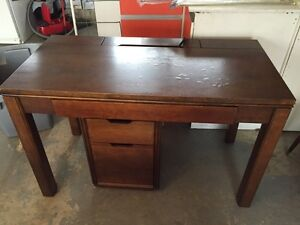Solid wood computer/work desk with file drawer