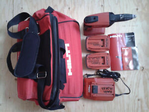 Hilti Cordless drywall screwdriver with accessories