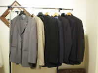MEN'S QUALITY  3 SUITS &  4 Jackets   25$ per suit