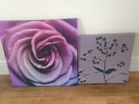Two wall canvases