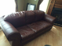Leather Sofa - Immaculate $200