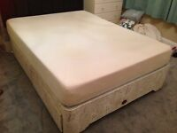 King size Bed Base with Memory Foam mattress