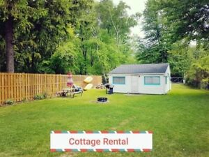 Ipperwash beach cottage for rent Lake Huron