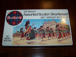 Vintage Burton's All Butter Assorted Scotch Shortbread Tin Can