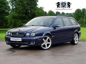 2009 09 JAGUAR X-TYPE 2.2 SE 5D AUTO 145 BHP DIESEL, FULL LEATHER+QUILTED