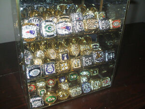 Complete Set of All 51 Replica NFL Superbowl Championship Rings