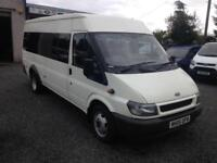 Ford TRANSIT 125 Bhp 17 seater MINIBUS with c.o.i.f and a full years mot