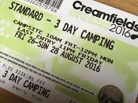 3 Day Camping Creamfields Ticket