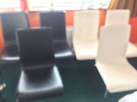 Habitat dining chairs black & white