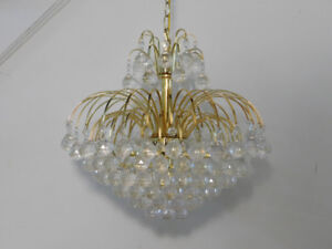Gold Chandelier w/ Faux Crystal Balls