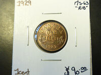 Monnaie 1¢ 1929 Ms-63 Red/Brown Laval / North Shore Greater Montréal Preview
