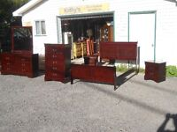 Sleigh Bed Double & dressers