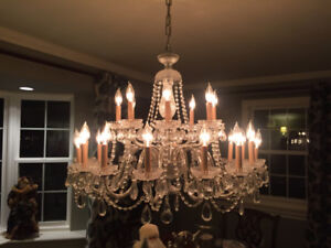 Complete Crystal Chandelier $5000  IMPORTED