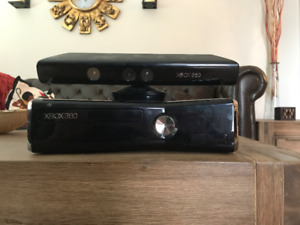 Xbox 360 package including Kinect, Rockband and games
