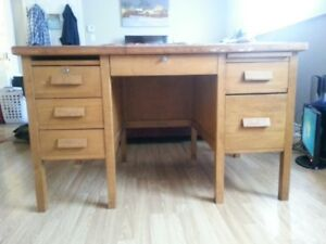 Solid Wood Desk and Solid Wood Chair.