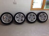 """GENUINE BMW 3 SERIES F30 18"""" 441 M SPORT DOUBLE ALLOY WHEELS WITH TYRES"""