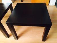 2 Tables de salon noires
