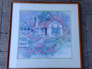 watercolor painting with frame