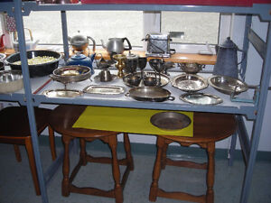 An assortment of goods for sale.