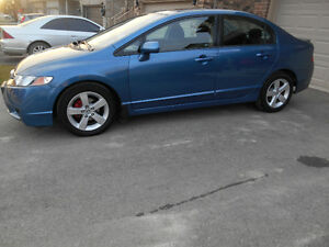 2010 Honda Civic LX Sedan with winter tires