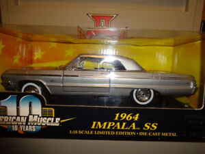 american muscle scale 1-18 die cast metal 1964 impala SS