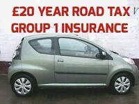 £20 PER YEAR ROAD TAX 2009 CITROEN C1 1.0 VTR GROUP 1 INSURANCE