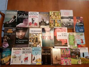 Lot de livres variés Geisha,Pancol, Beauchemin, Gavalda, 5$ et+