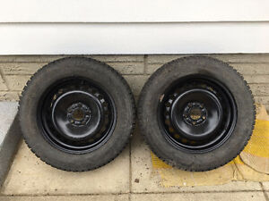 215/60R16 Studded General Altimax Arctic Tires & Rims