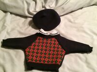 American Girl Molly's Meet hat and shirt