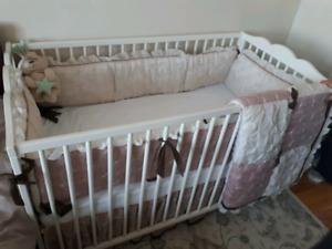 Crib- crib matress- Crib dresser set