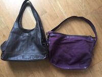 John Lewis leather handbag x2