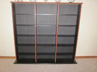 Black and brown wood Video/DVD/CD storage shelf