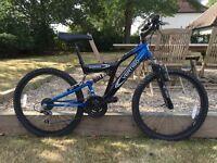 """Vertigo Rockface 26"""" frame boys suspension mountain bike"""