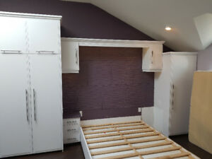 Custom bedroom set and storage cabinets