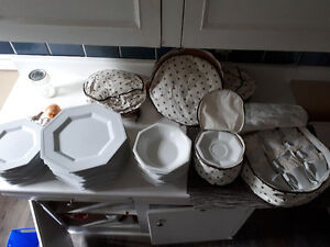 12 piece dining set with extra matching cutlery