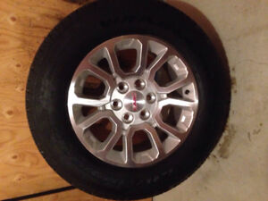 Set of 4 Factory wheels and tires from 2016 Sierra 1500