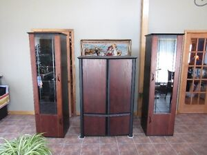 TV unit with 2 side cabinets