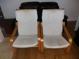 Ikea armchairs x2 £20 the pair.
