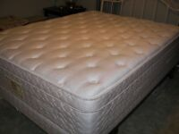 QUEEN SIZE MATTRESS, BOX SPRING & FRAME - OLIVER
