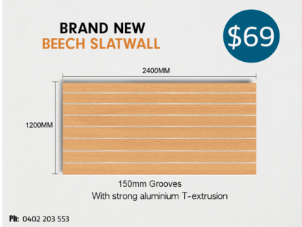 Quality Slatwall Panels With Aluminium Extrusion 150MM GROOVES