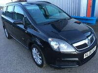 2006 VAUXHALL ZAFIRA 1.6 BLACK 7 SEATER **12 MONTHS MOT** LOW MILES