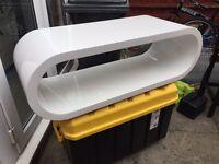 Brand new white gloss coffee table rrp £299. Slight damage