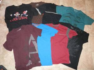 Big bag of youth/men's clothing (tops, bottoms, shoes)